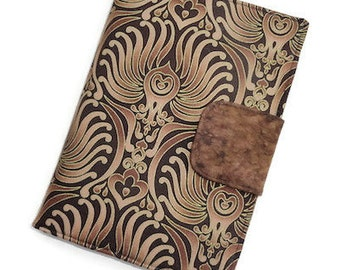 "ReADY~to~SHiP~Samsung Galaxy Tablet 3~8"", Samsung Galaxy Tablet 4~8"" in a Chocolate Brown Baroque Wallpaper Metallic Print~~ReADY~TO~~ShiP"