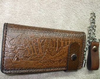 fishing chain long  wallet. fishing wallet.  (0015) ships same day as ordered.