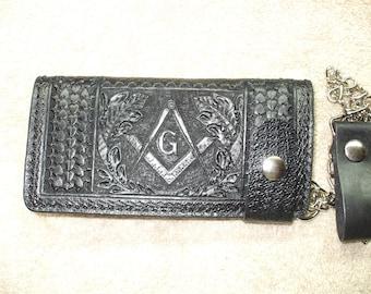 freemason long wallet. masonic wallet. ships same day as ordered