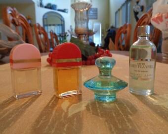 4 Vintage Mini Perfumes Grey Flannel Red Door Revealed