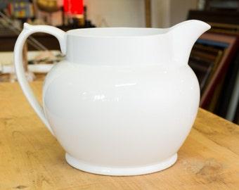 Huge White Spode jug, ceramic jug, big jug, decorators piece, summer pimms, statement piece, white vase, collectable