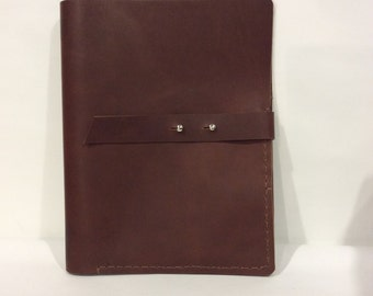 Notepad Case/Legal Ruled Tops Professional Legal Pad Portfolio For Men And Women/Leather Notepad Case/Many Pocket