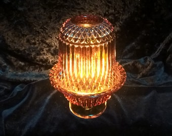 Fairy Lamp by Princess House, Indiana Glass