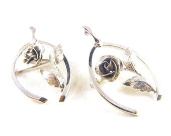 Brooch Set Sterling Scatter Pins Lucky Charms Rose Filled Wishbones Very Lovely Pair Designer Signed Bond Boyd Sterling Wishbones