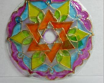 Recycled CD Star Suncatcher 404