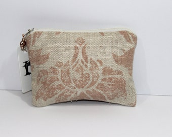 Handmade Silk Change Pouch with Silk Lining