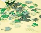 Jungle Party Confetti - Table confetti - Wedding Confetti - Green Trend - Party Decorations - Tropical Party Supplies