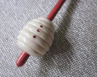 RESERVED for Knitsticka.  Supported Spindle in Holly - 35g