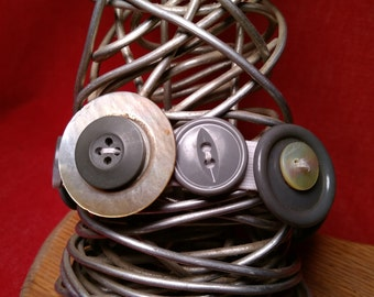 Gray Skies Button Bracelet