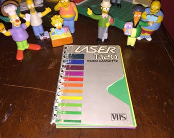 Laser VHS handmade notebook