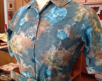 Novelty seashell shirt dress medium