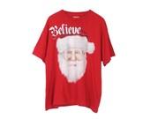 Ugly Christmas T-Shirt - Top Tee Sweater Santa Claus Old St Nick Vintage Christmas Shirt Ugly Xmas Crew Neck Holiday Party Knit Santa Wreath