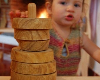 Wooden stacking ring / wood toy for babies / savage wood stacking ring