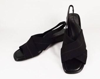 NURTURE Black Slingback Sandals US Size 7M