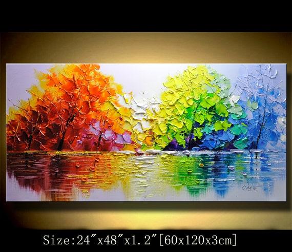 Contemporary Wall Art Palette Knife By Xiangwuchen On Etsy