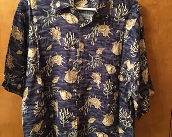 Men's shirt, Seashell design.