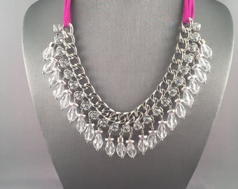 Mixed Materials Statement Necklace
