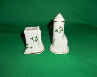 One (1), Pair of Salt & Pepper Shakers, from Carrigaline Pottery, in the Irish Castle Pattern.