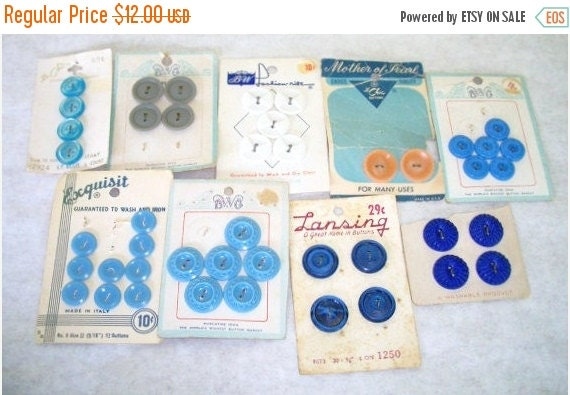 On sale vintage buttons on the original by debscountryvintage for Craft buttons for sale