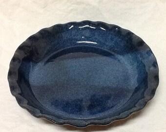 20% Off!  Stoneware Pie Plate-  Stone Penguin Pottery