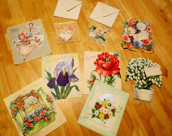 Vintage Greeting Cards Lot of 9