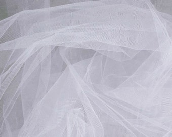 Tulle White 108 Inch Fabric by the Yard - 1 Yard