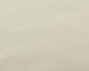 45 Inch Poly Cotton Broadcloth Ivory Fabric by the yard - 1 Yard
