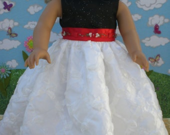 Red and Black Tuxsedo Princess Dress for 18 inch Dolls