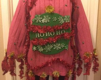 "Ugly Christmas Sweater ""HoHoHo"" Women's XL"