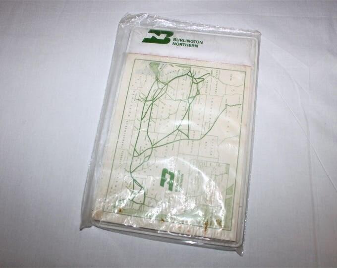 Vintage 1960s Burlington Northern Railway Notepad in Original Packaging NOS