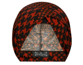 Audrey Multiwear Turban in Dogtooth