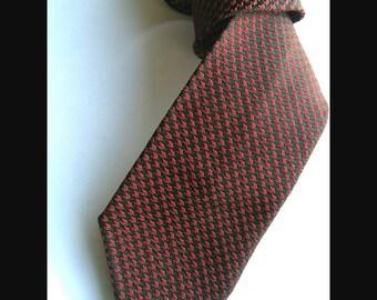 Vintage red and black sixties skinny tie
