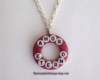 Amor Eterno Resin Charm Necklace