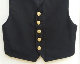 Boy's victorian or pirate costume waistcoat