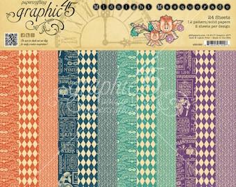 "Graphic 45 ""Midnight Masquerade"" 12 x 12 Patterns & Solids Pad"