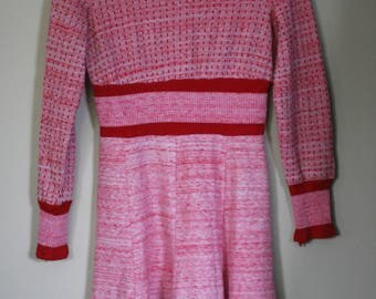 vintage knit dress by J C Penny's