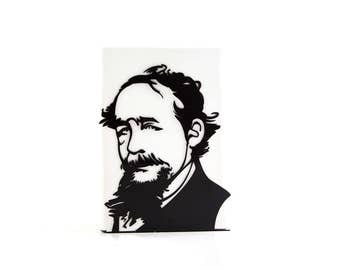 One Decorative bookend Charles Dickens // modern functional decor for the smartest books // FREE SHIPPING // perfect housewarming gift