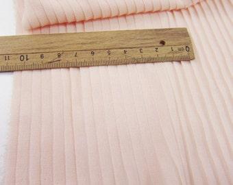 light pink chiffon accordion pleated fabric for pleated dress, accordion pleats fabric by the yard, accordion chiffon fabric