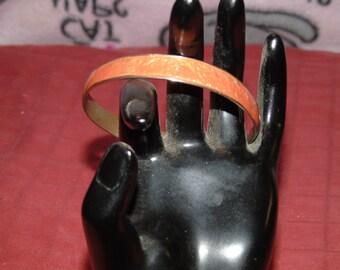 Vintage Pale orange cloisonne bracelet