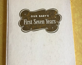 Babys First Seven Years - 1960's unused baby book