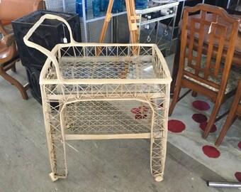 Russel Woodard Spun Fiberglass Rare Vintage Patio Cart on Sale