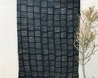 African Mudcloth Fabric, African Mud cloth fabric, black and white mudcloth home decor, ethnic decor #31