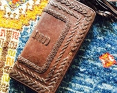 TALISMAN. Brown leather clutch / womens leather wallet / leather clutch purse / womens wallet. Available in different leather color.