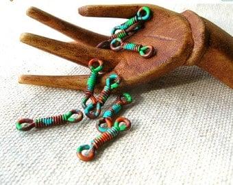 Christmas Sale Copper Bohemian Connectors - Handmade Findings - Connector Findings - Tribal Connectors - Bohemian Connectors