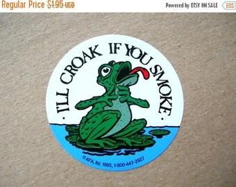 Christmas Sale Vintage Stickers - Frog Stickers - Smoking Stickers - Vintage Ephemera