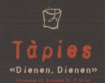 Antoni Tapies-Dienen, Dienen-1997 Lithograph