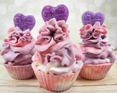 SPELLBOUND goat milk soap/cupcake soap/handmade soap/cold process/soap cupcake/body soap/soap favor/wholesale soap/gentle soap