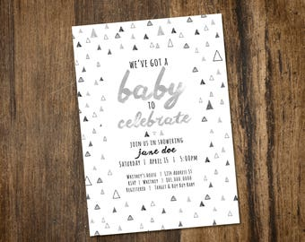 Triangle Baby Shower Invitation