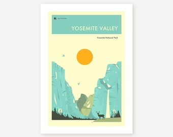 YOSEMITE NATIONAL PARK (Giclée Fine Art Print, Photo Print or Poster Print) 'Yosemite Valley' by Jazzberry Blue