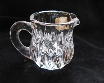 vintage crystal toothpick holder, pitcher shape, West Germany, 1960's